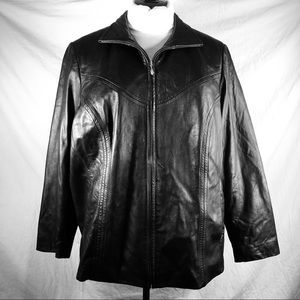 Preston & York Sz 2X lamb skin leather jacket